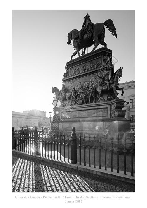 Unter den Linden, Denkmal Friedrich der Große, 01-2012